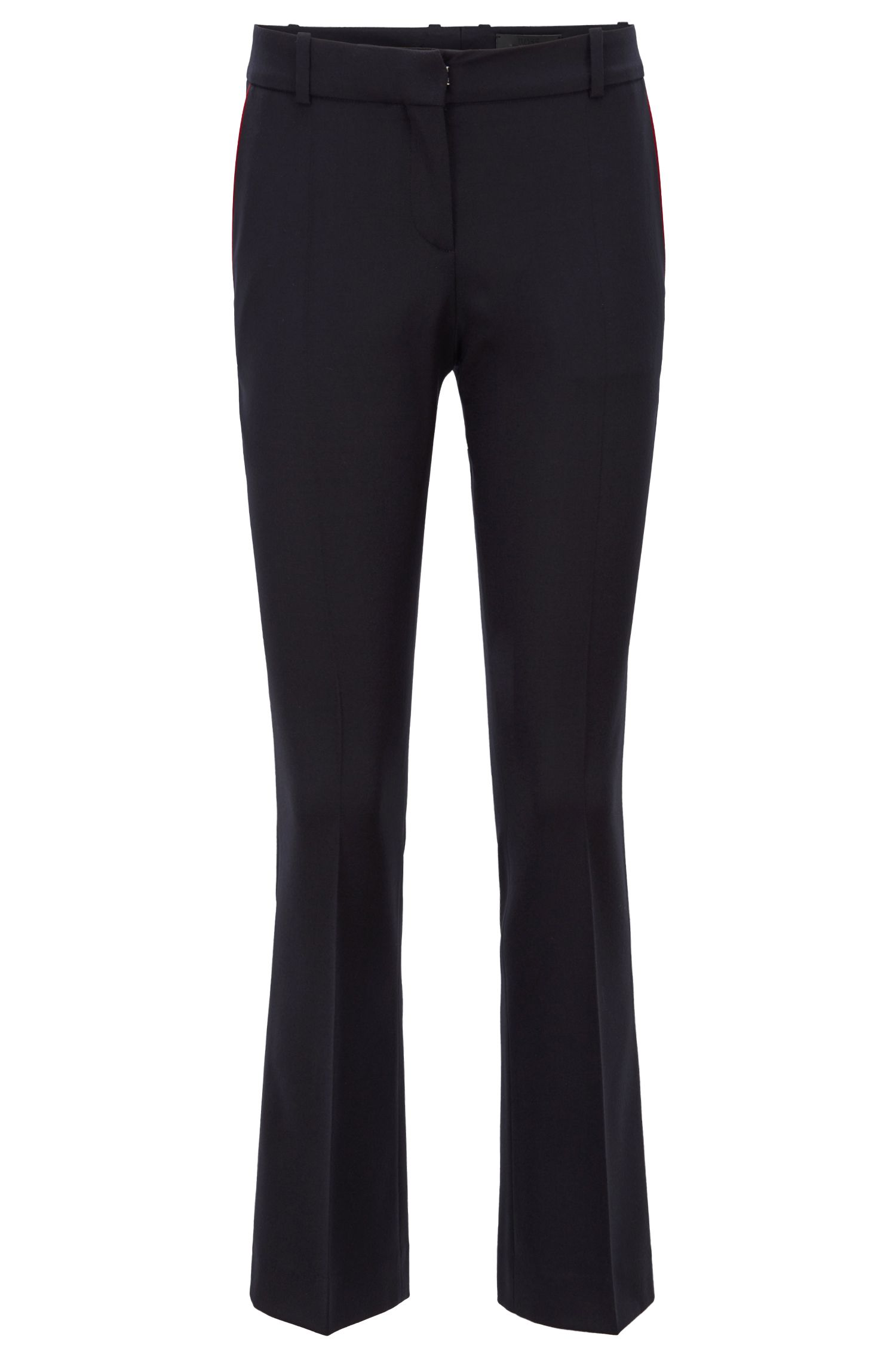Regular-fit cropped trousers with a boot leg