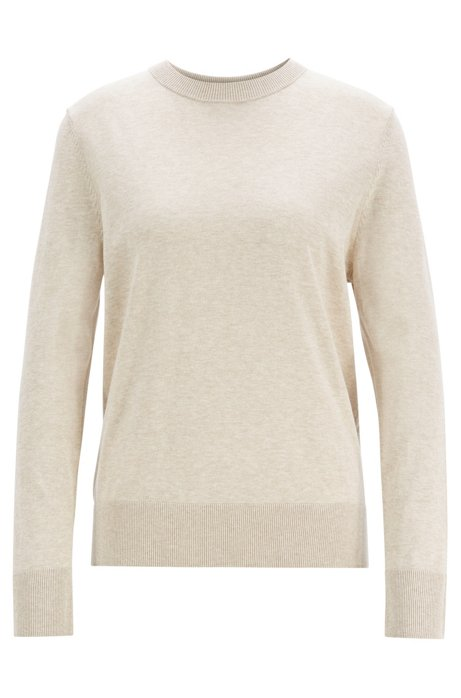 a77d411a92 BOSS - Lightweight sweater in cotton with silk and cashmere