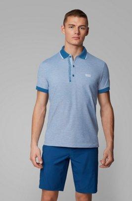 Piqué-Poloshirt aus Pima-Baumwolle, Blau