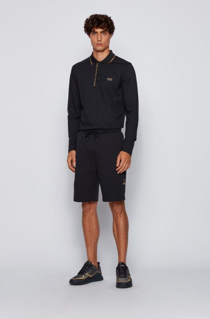 Polo Slim Fit avec ruban logo sous la patte de boutonnage