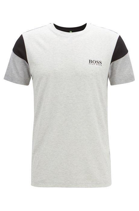 f1fd875fd Slim-fit T-shirt in a moisture-wicking cotton blend, Light Grey