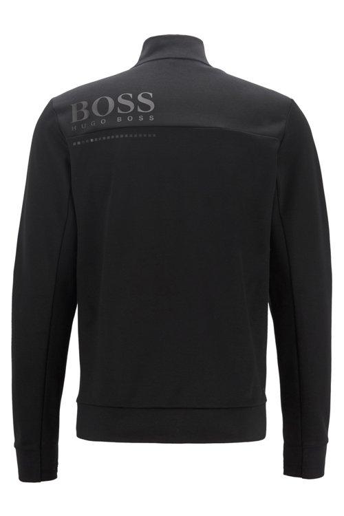 Hugo Boss - Wasserabweisende Sweatjacke aus Baumwoll-Mix - 3