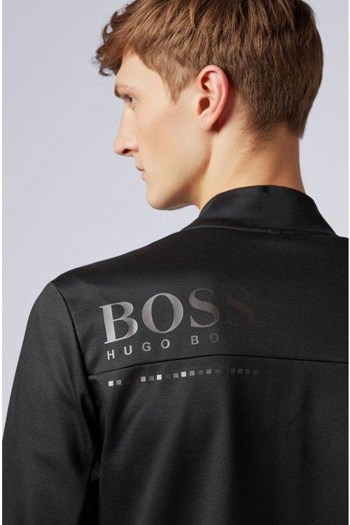 Hugo Boss - Wasserabweisende Sweatjacke aus Baumwoll-Mix - 4