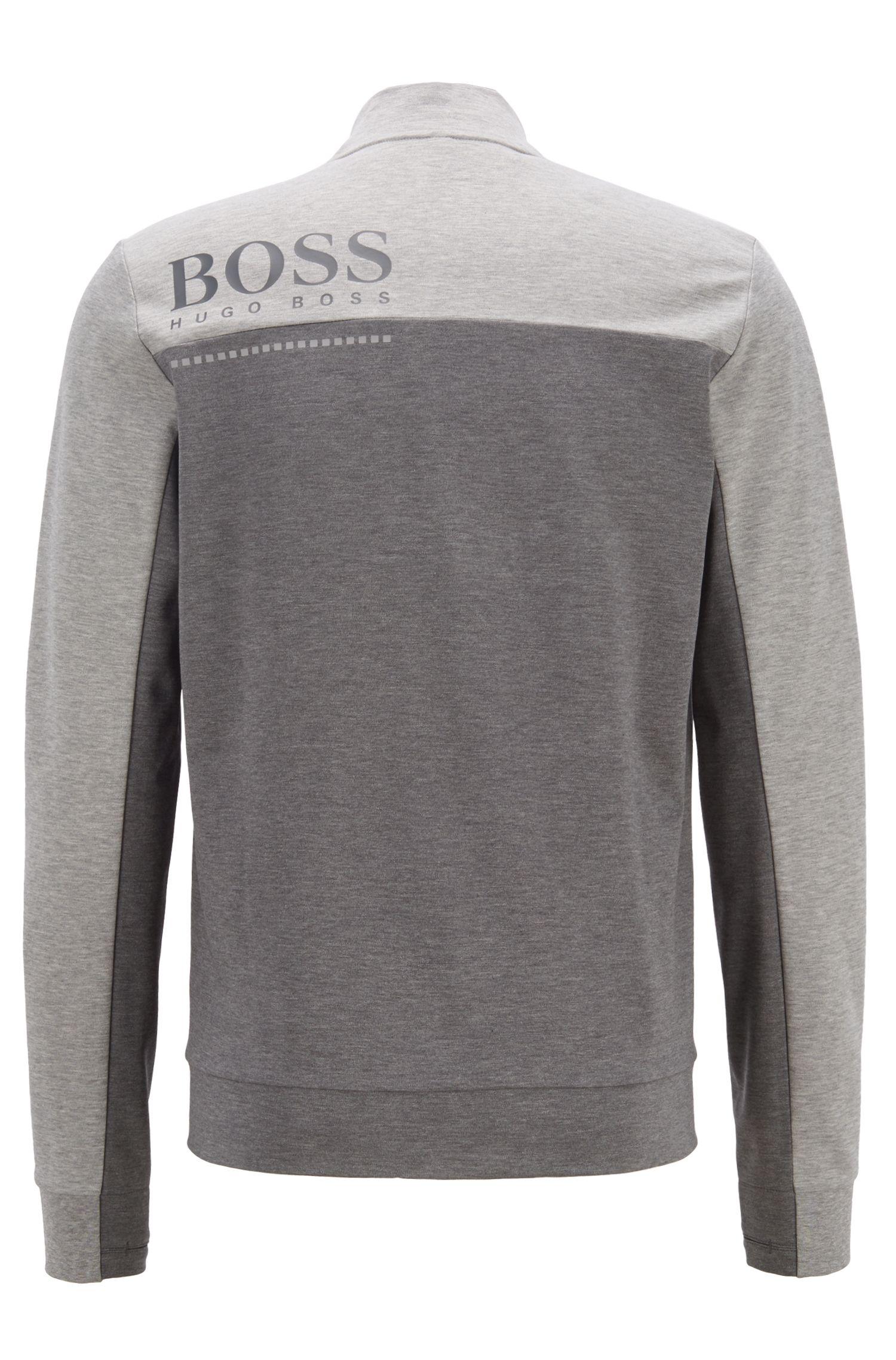 Wasserabweisende Sweatjacke aus Baumwoll-Mix, Grau