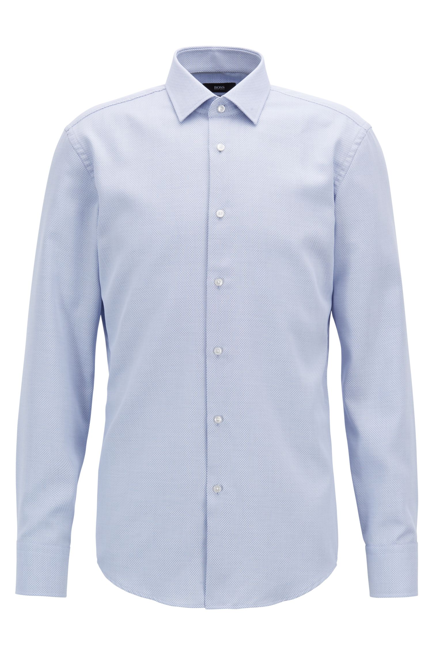Hugo Boss - Slim-fit shirt in cotton with Aloe Vera finishing - 1