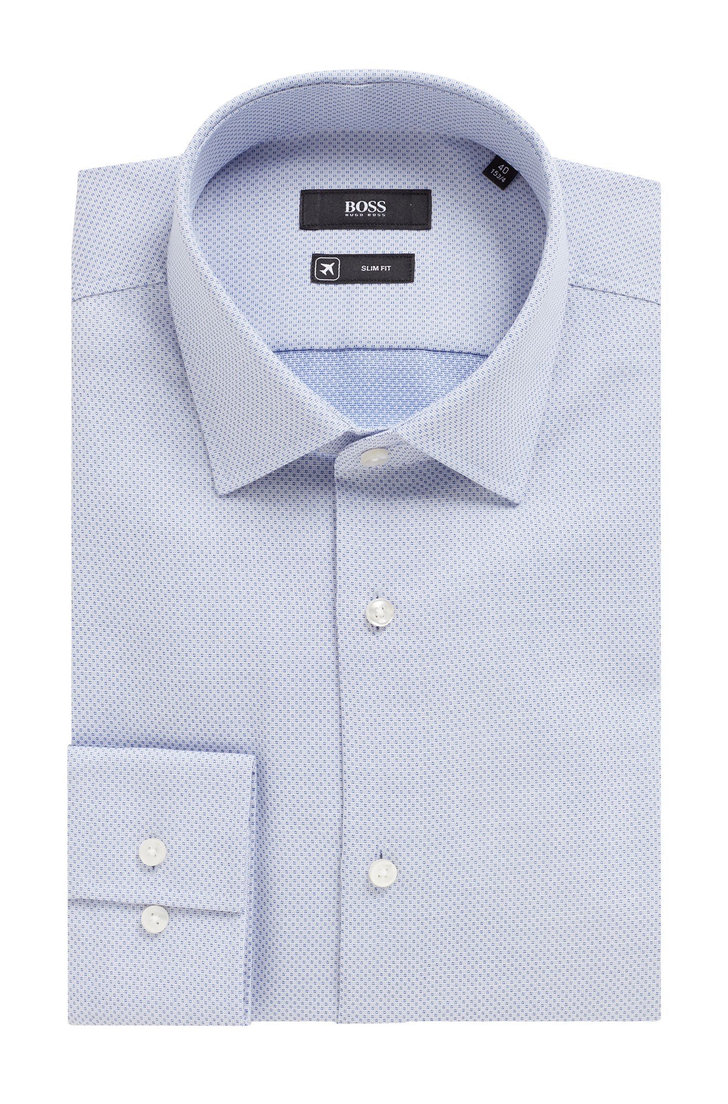 Hugo Boss - Slim-fit shirt in cotton with Aloe Vera finishing - 5
