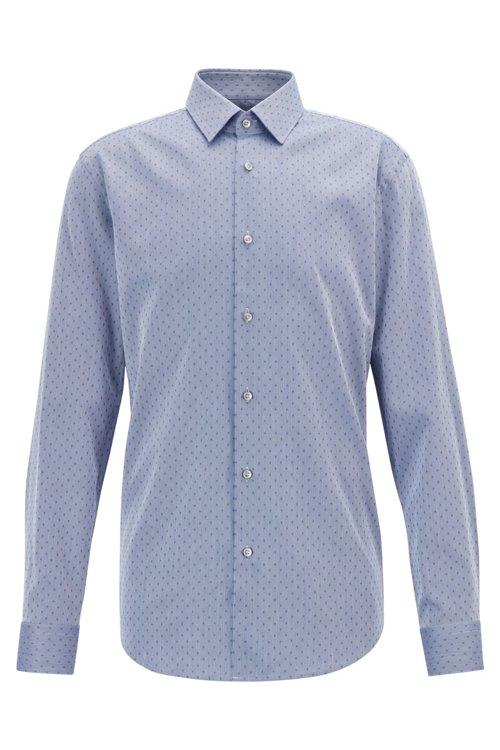 Hugo Boss - Camisa slim fit en mezcla de algodón fabricada en Suiza - 1