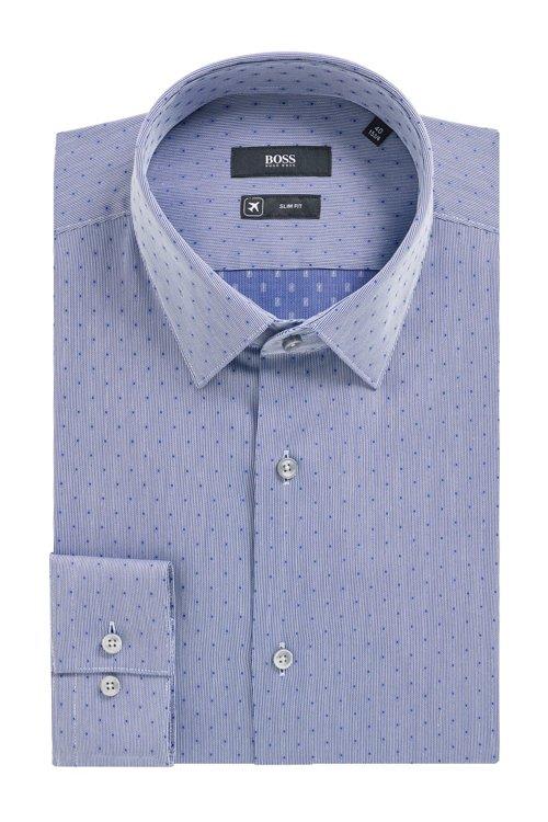 Hugo Boss - Camisa slim fit en mezcla de algodón fabricada en Suiza - 4