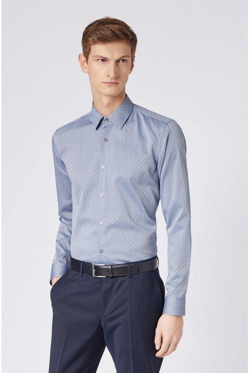 Hugo Boss - Camisa slim fit en mezcla de algodón fabricada en Suiza - 3