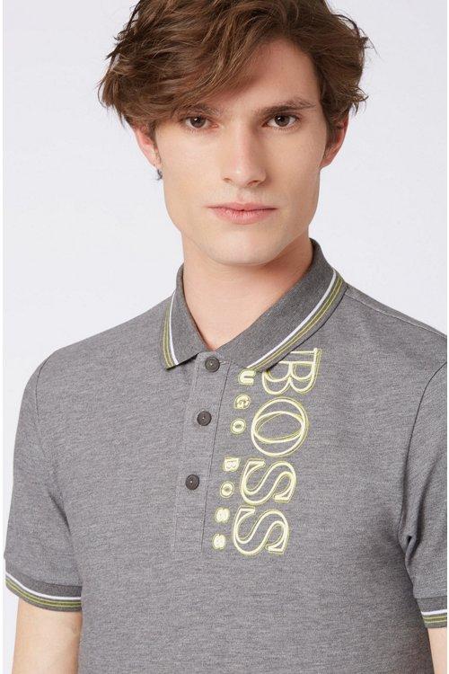 Hugo Boss - Slim-fit polo shirt in cotton-blend piqué with S.Café® - 4