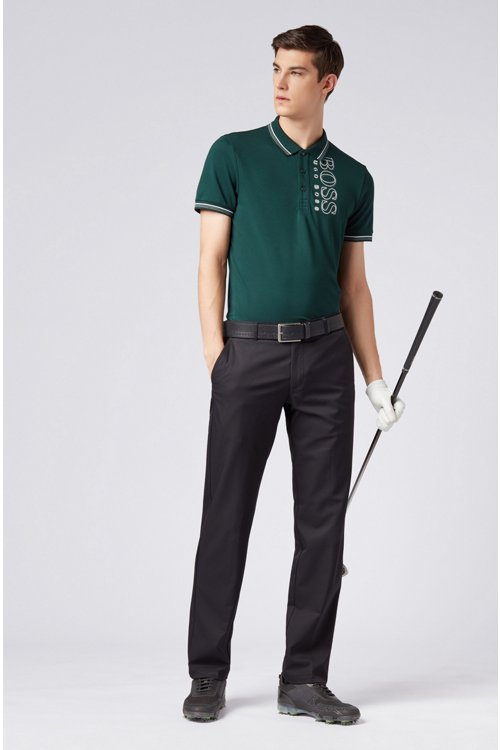 Hugo Boss - Slim-fit polo shirt in cotton-blend piqué with S.Café® - 2