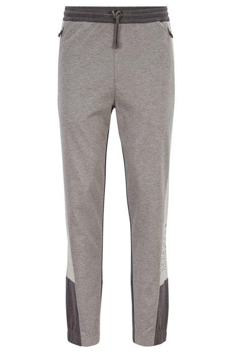 Wasserabweisende Slim-Fit Hose aus Interlock-Gewebe, Hellgrau