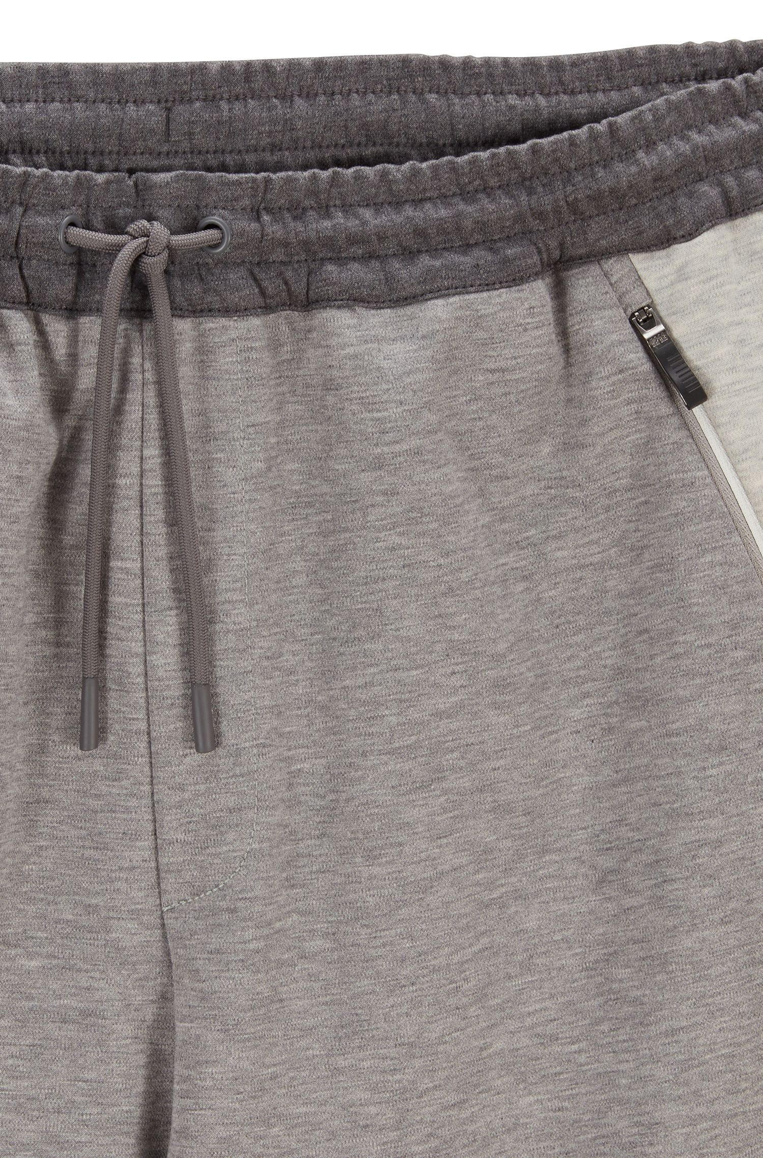 Water-repellent trousers in moisture-wicking interlock fabric, Light Grey