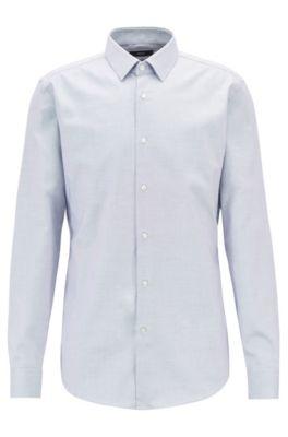 Travel Line slim-fit overhemd van Fresh Active-katoen, Lichtblauw