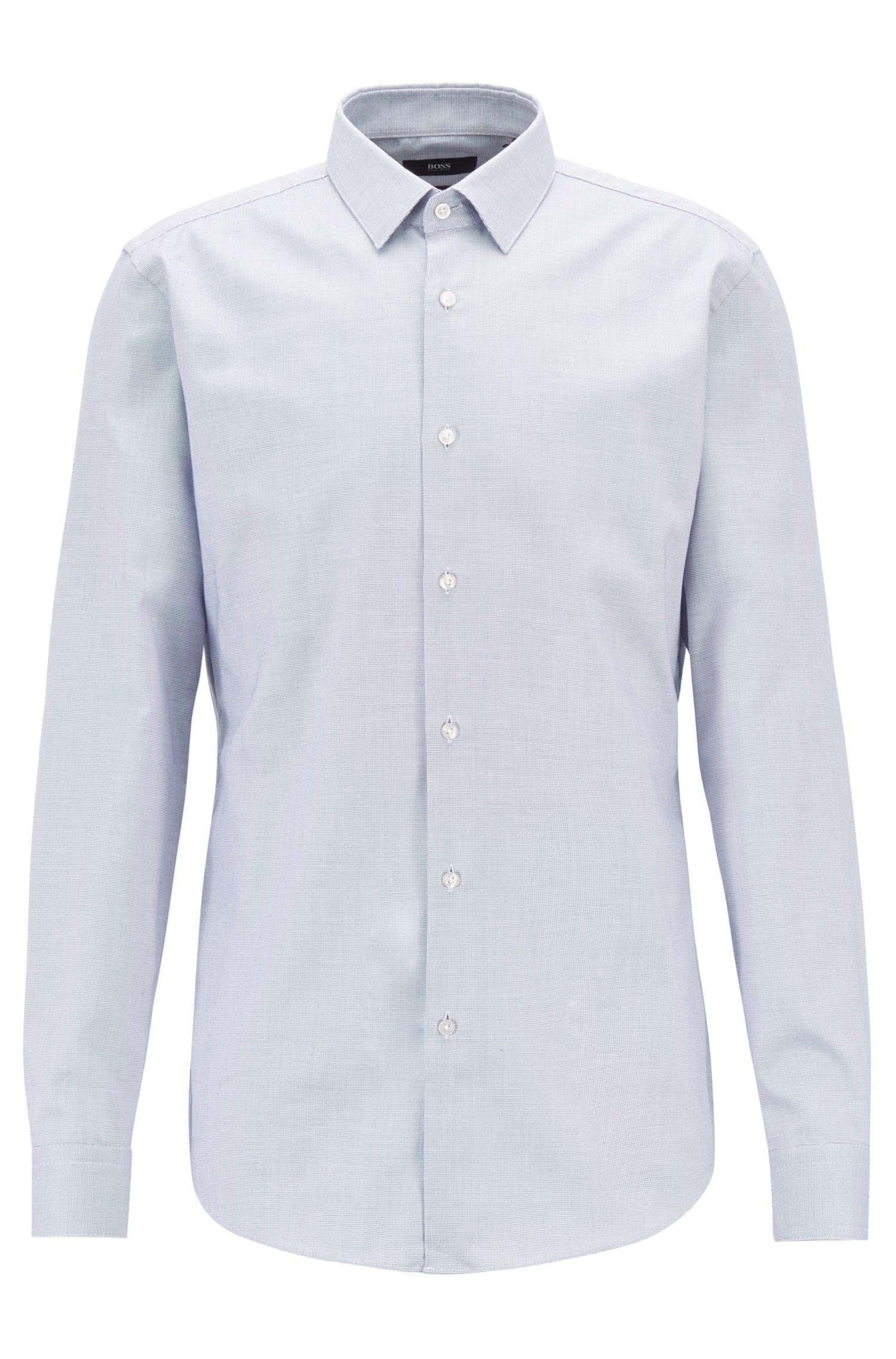 Travel Line Slim-Fit Hemd aus Baumwolle mit Fresh Active Finish, Hellblau