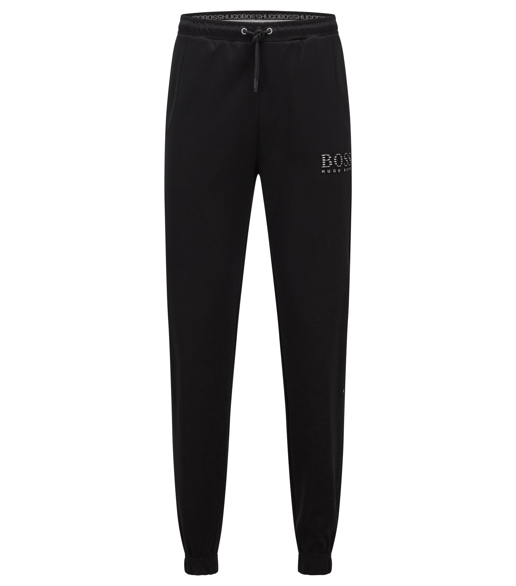 Slim-fit tracksuit bottoms with reflective detailing, Schwarz