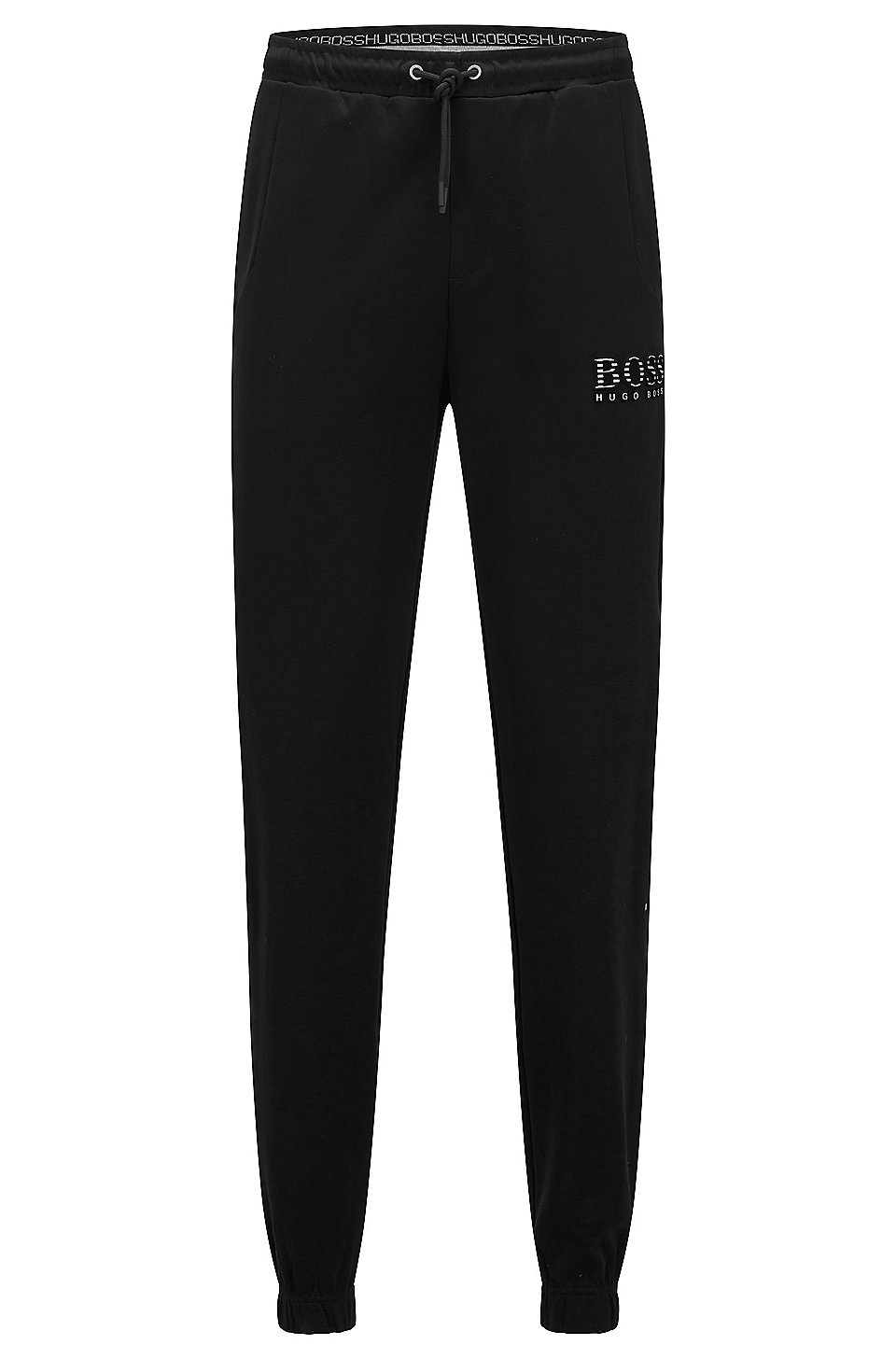 71df0f685 BOSS - Slim-fit tracksuit bottoms with reflective detailing