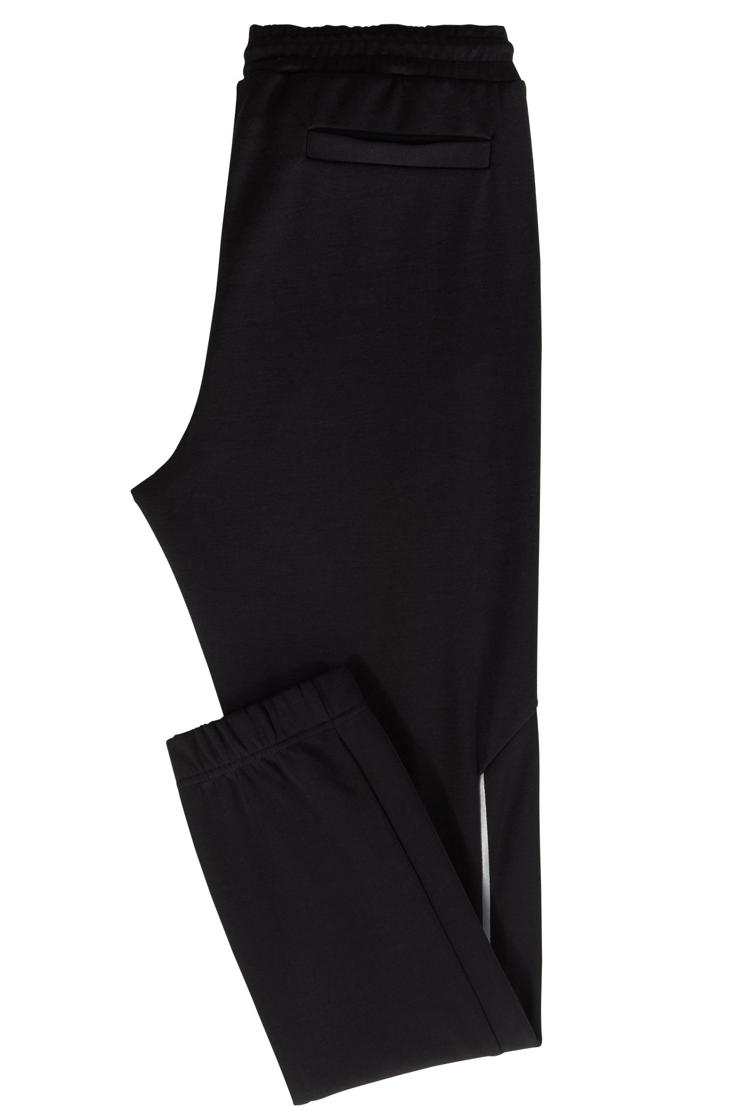 Slim-fit joggingbroek met reflecterende details, Zwart