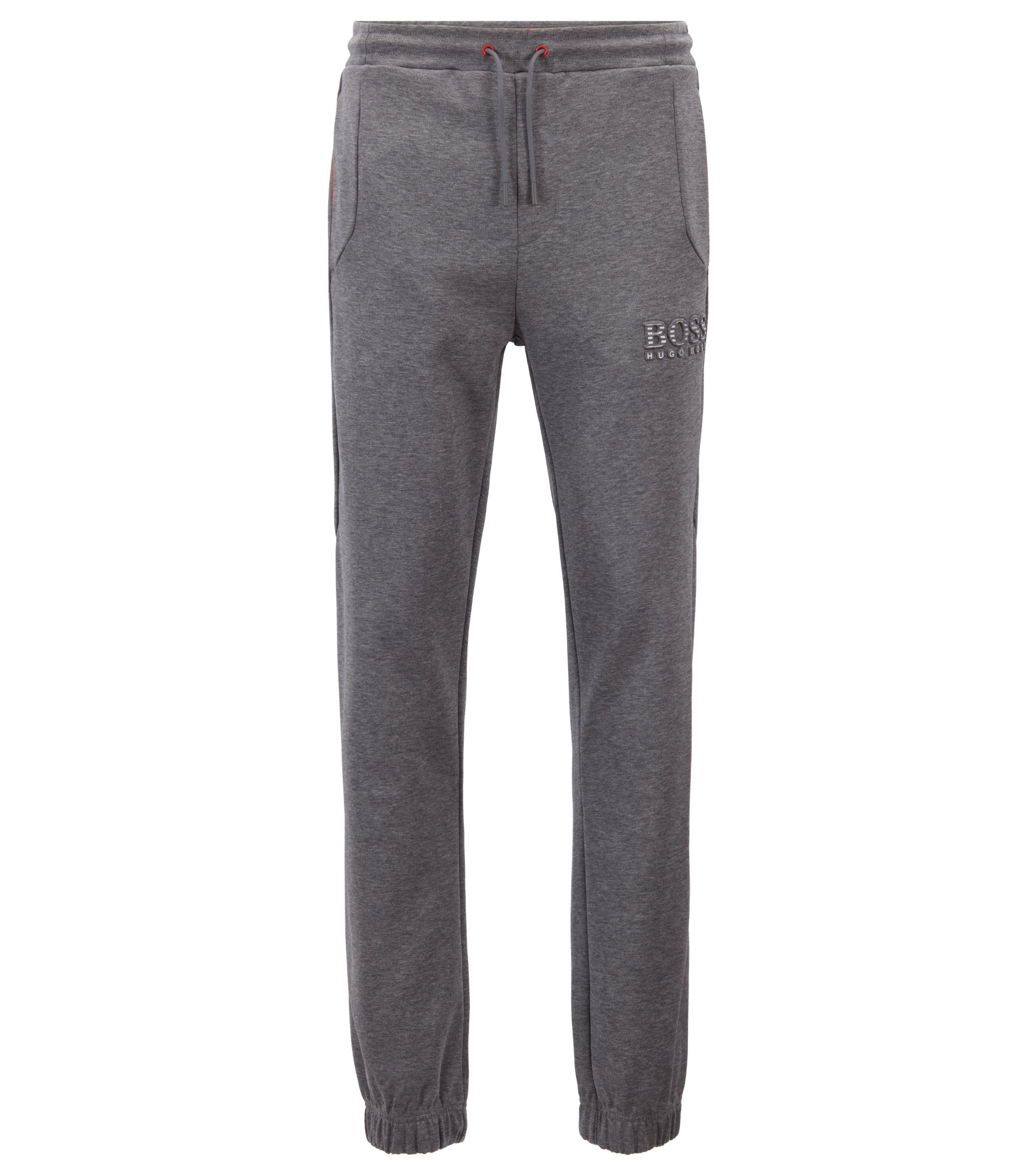 Slim-fit tracksuit bottoms with reflective detailing, Grau