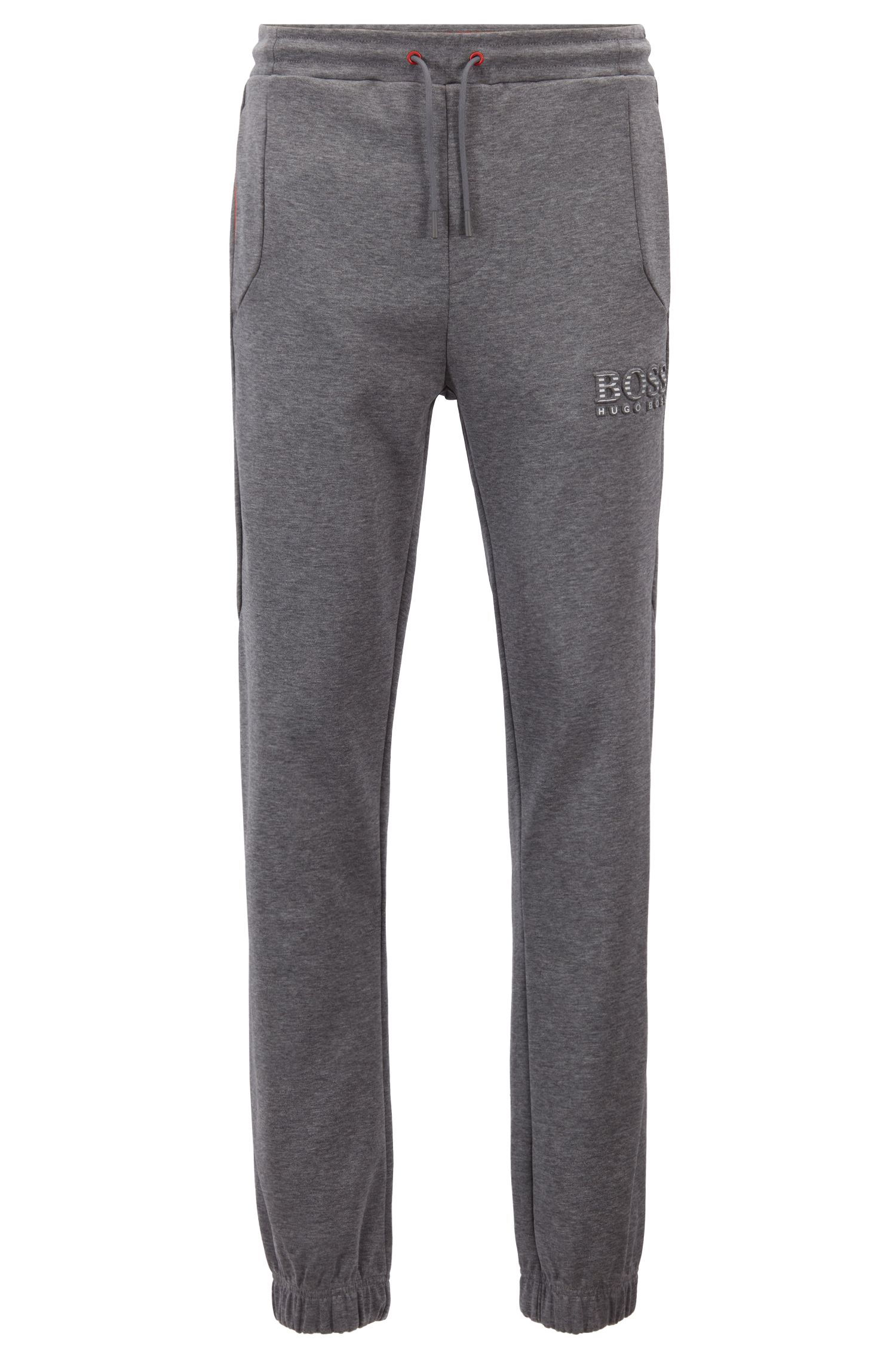 Slim-fit joggingbroek met reflecterende details, Grijs