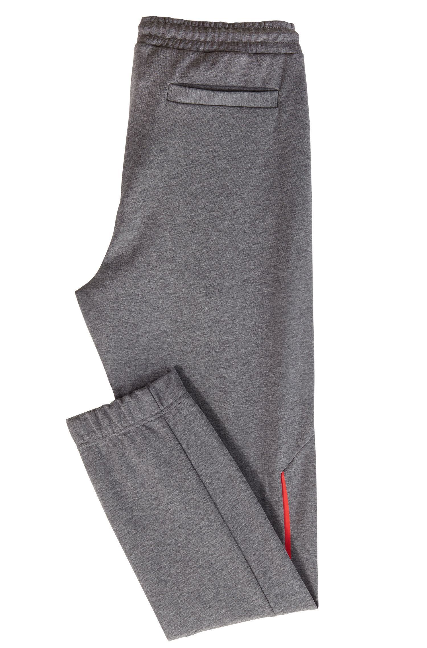 Slim-fit tracksuit bottoms with reflective detailing, Grey