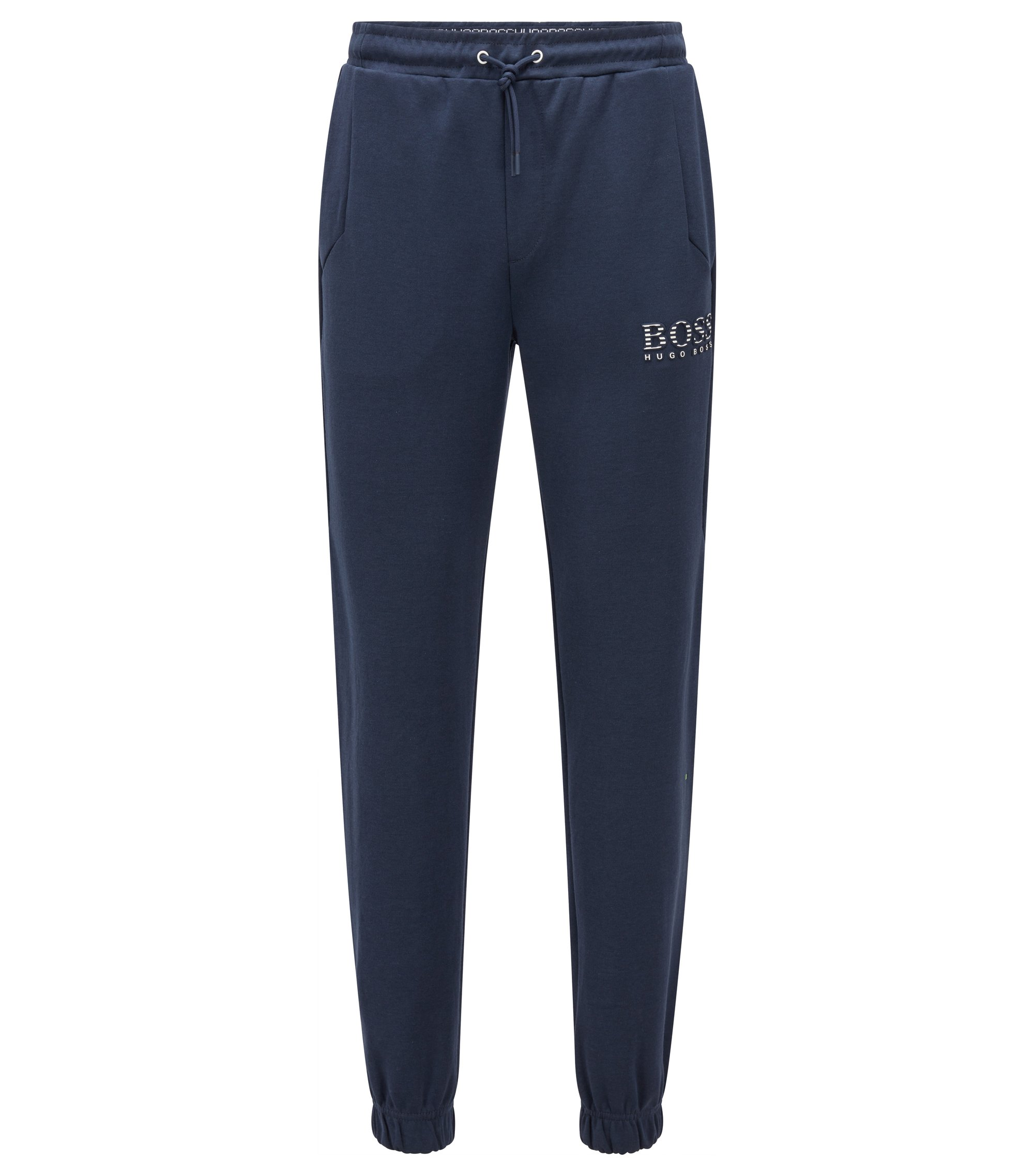 Slim-fit tracksuit bottoms with reflective detailing, Dunkelblau