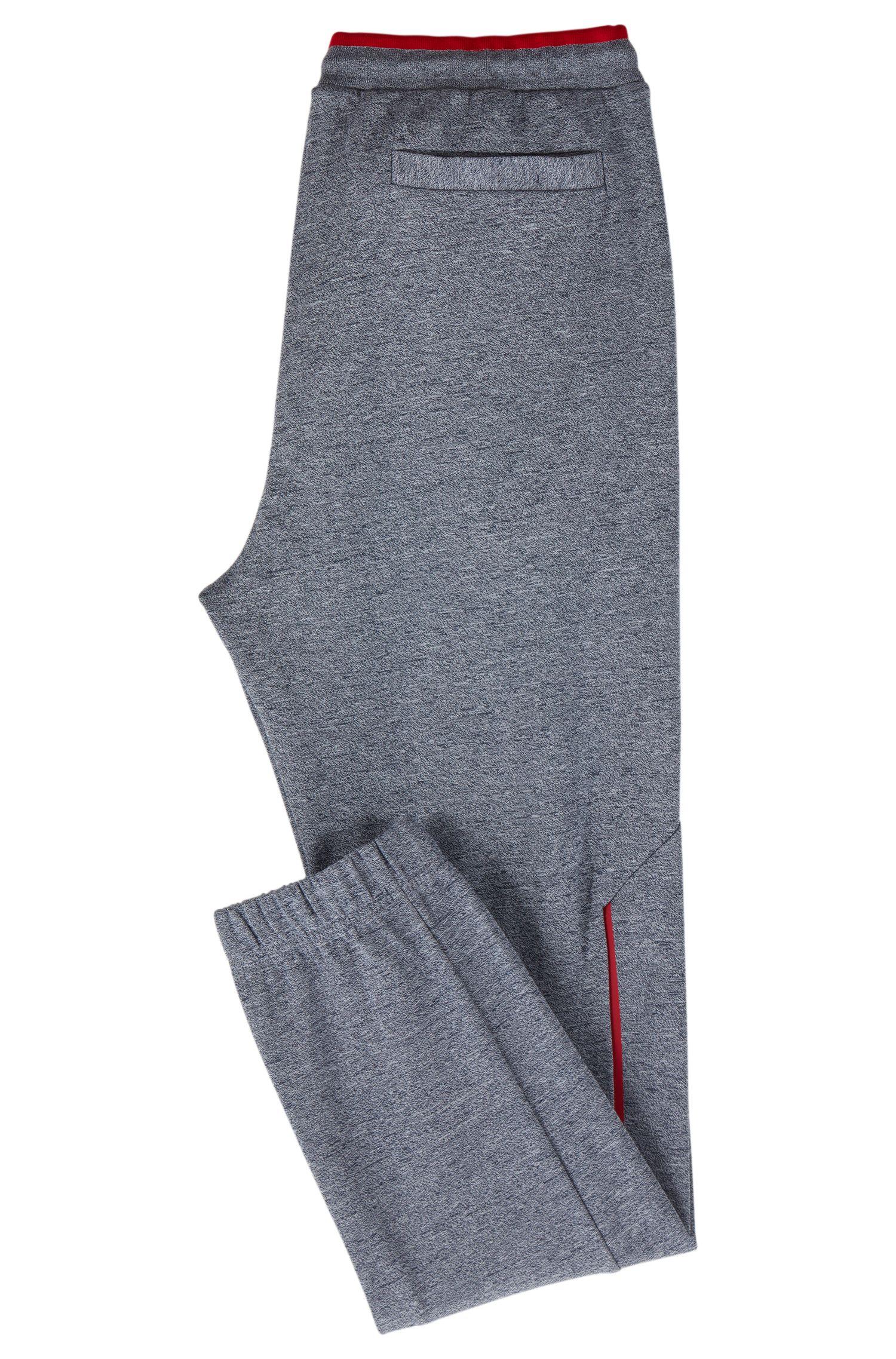 Slim-Fit Jogginghose mit reflektierenden Details, Dunkelblau