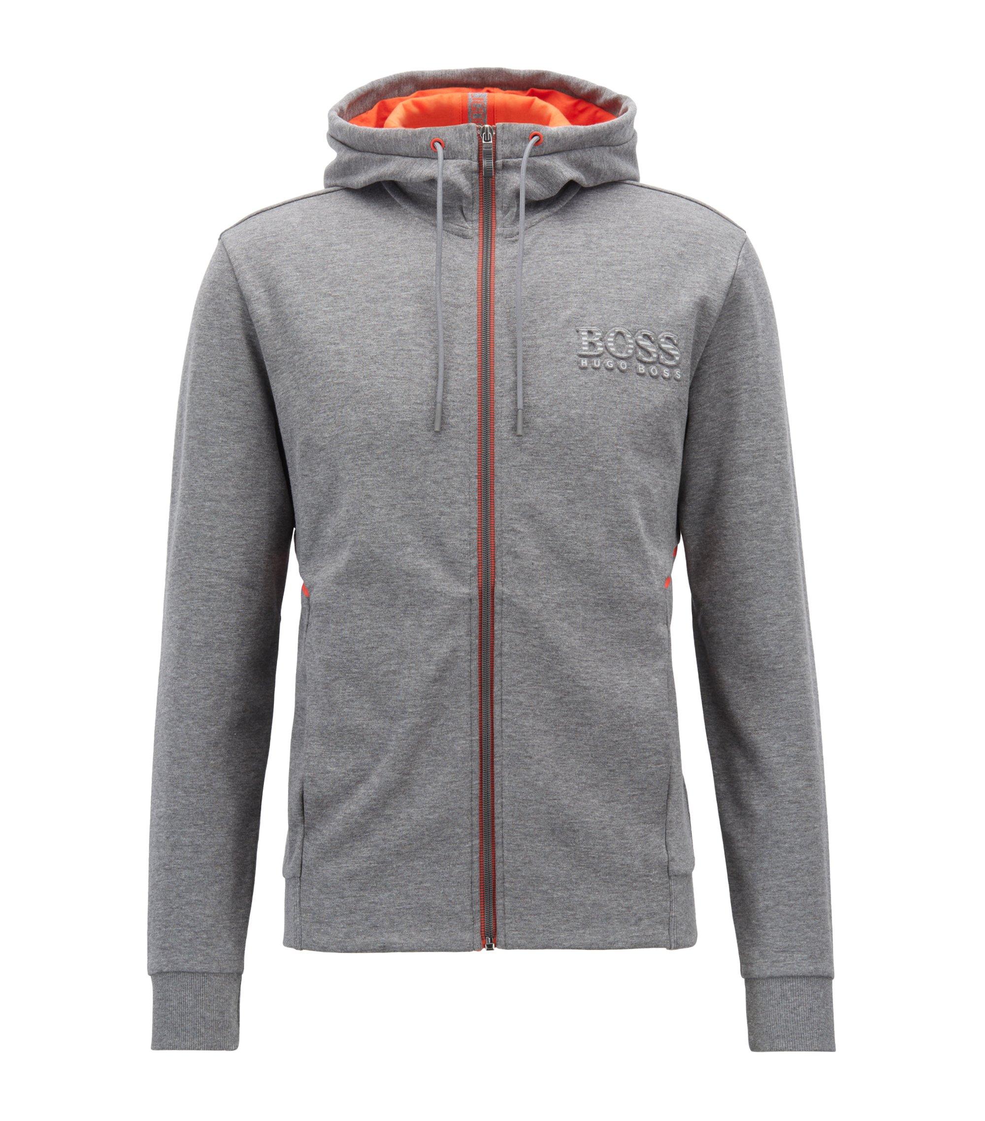 Sweater met capuchon met logo en reflecterende details, Grijs