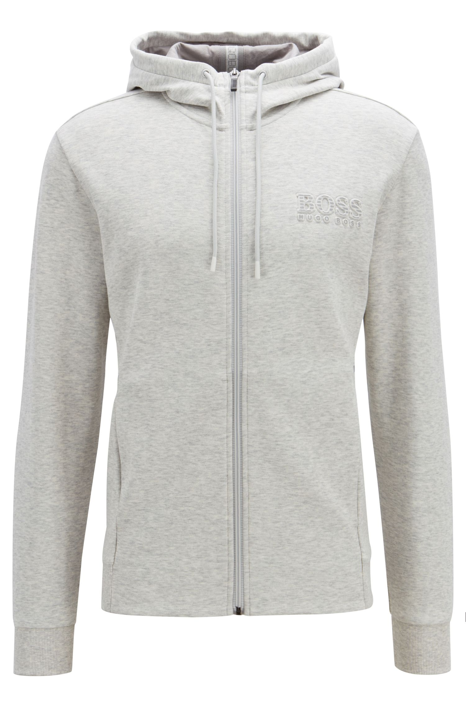 Hooded sweatshirt with logo and reflective detailing, Light Grey