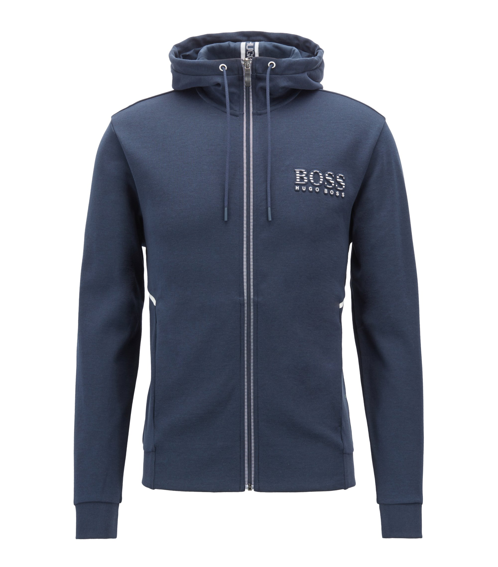 Hooded sweatshirt with logo and reflective detailing, Dark Blue