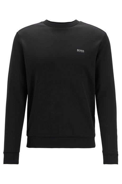 Sweatshirt mit Kontrast-Logo, Schwarz