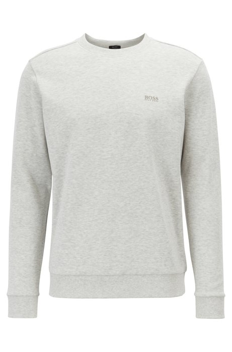 Sweatshirt mit Kontrast-Logo, Hellgrau