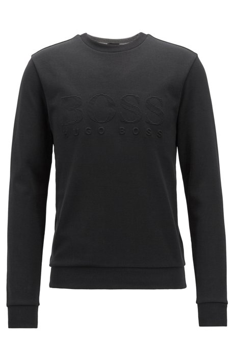 13a9348fbc BOSS - Slim-fit sweatshirt with tonal embossed logo