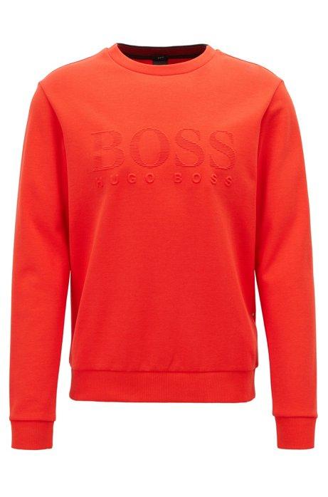Sweatshirt mit tonaler Logo-Prägung, Orange
