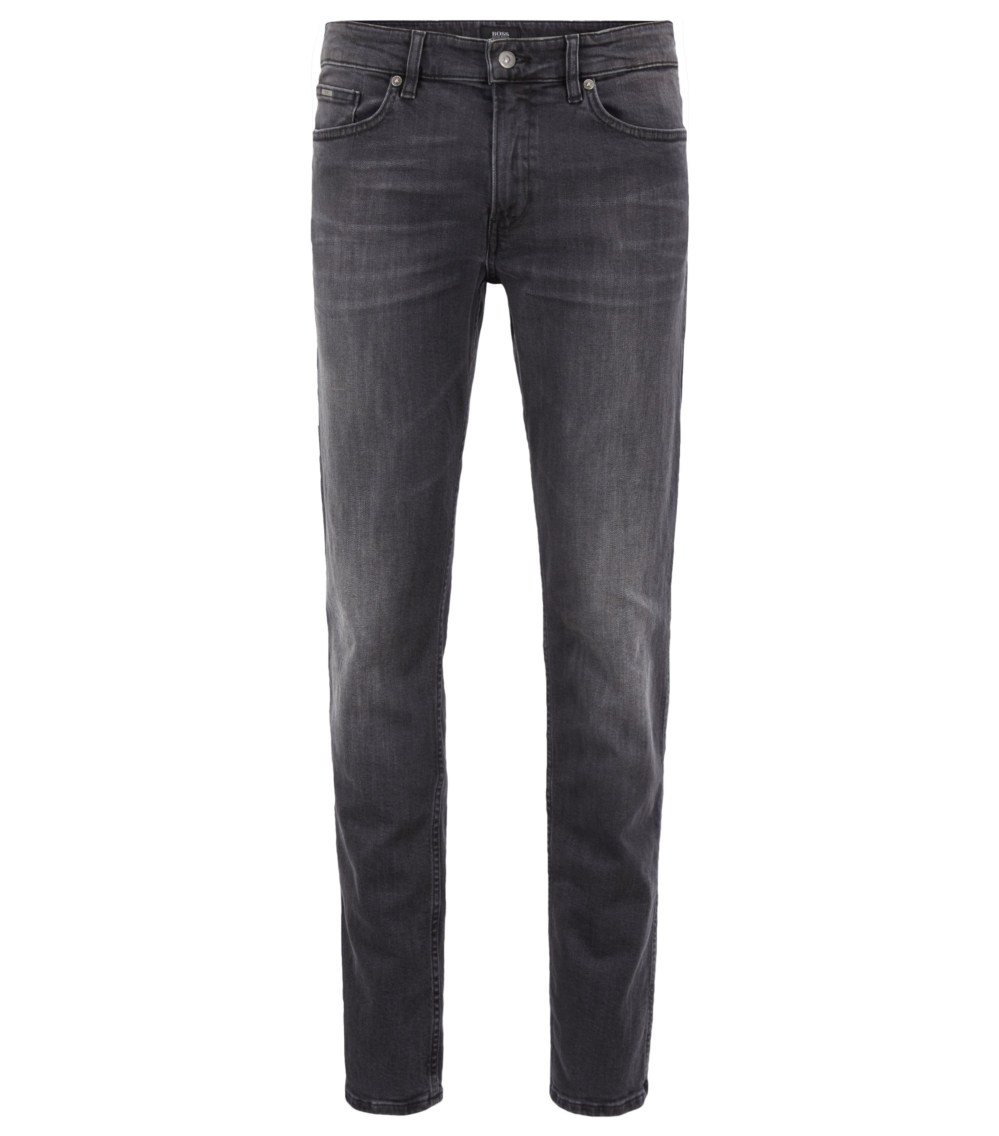 Slim-Fit Jeans aus Stretch-Denim, Dunkelgrau