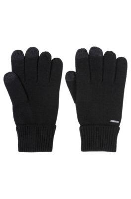 Handschoenen van een wolmix met touchscreenvriendelijke vingertoppen