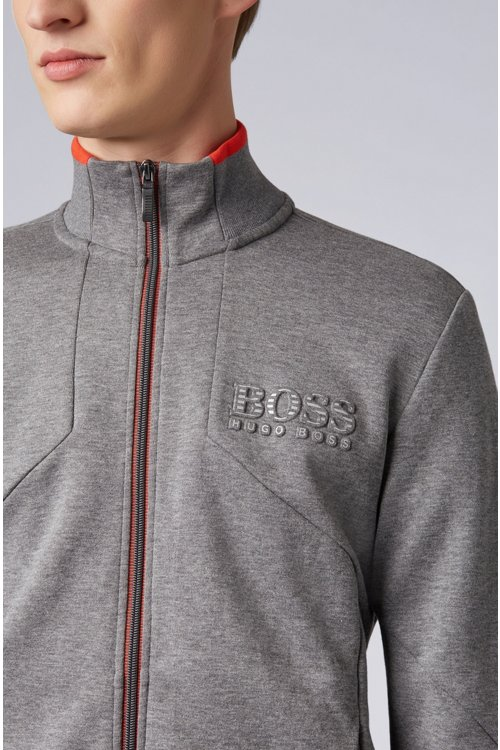 Hugo Boss - Sweatjacke aus Baumwoll-Mix mit Reißverschluss und reflektierenden Details - 4