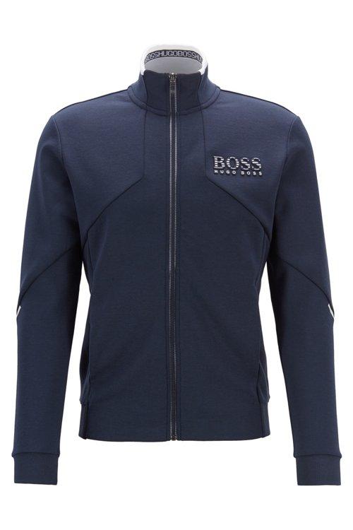 Hugo Boss - Sweatjacke aus Baumwoll-Mix mit Reißverschluss und reflektierenden Details - 1
