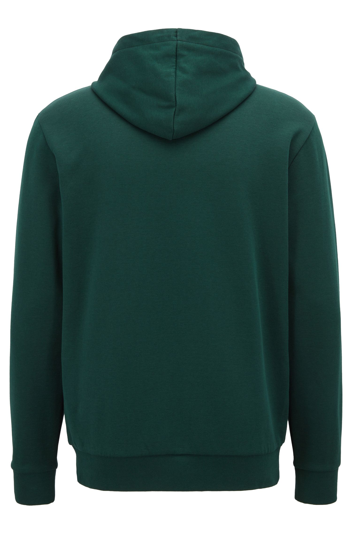 Double-faced hooded sweatshirt with embossed logo, Green