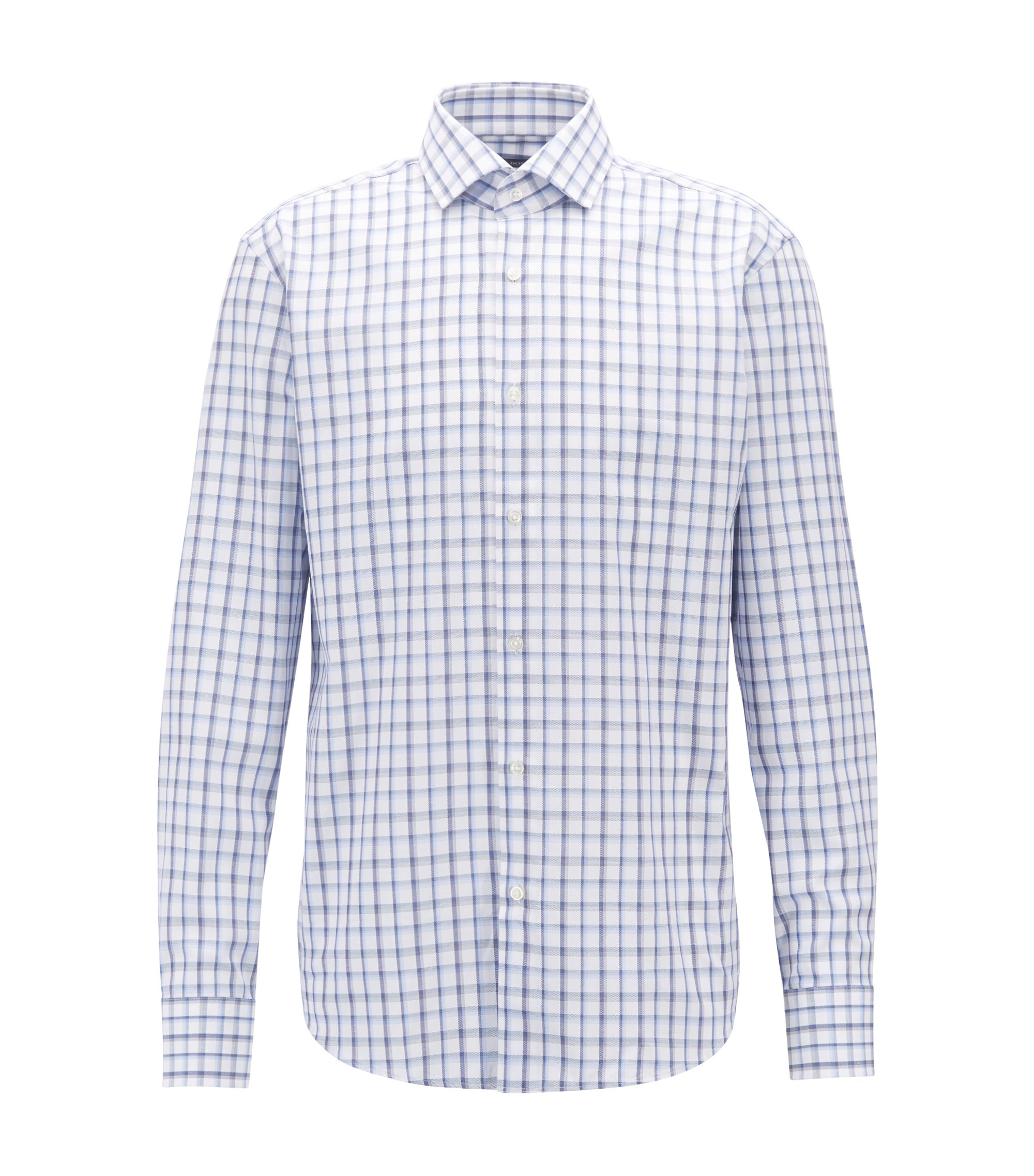 Chemise Regular Fit en coton Oxford à carreaux vichy, Bleu