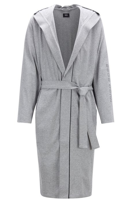 93e1b2b8d22b2 Hooded dressing gown in heavyweight jersey with contrast piping