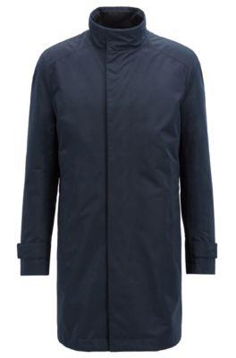 Manteau déperlant Regular Fit avec doublure amovible, Bleu foncé