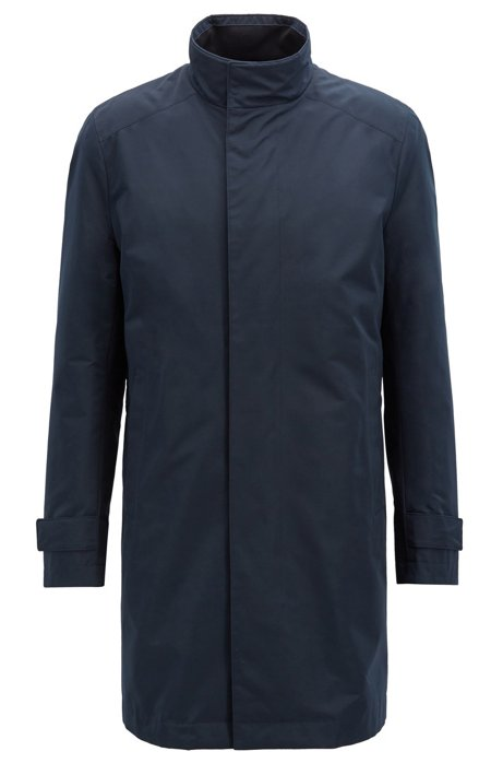 Wasserabweisender Regular-Fit Mantel mit herausnehmbarer Weste, Dunkelblau