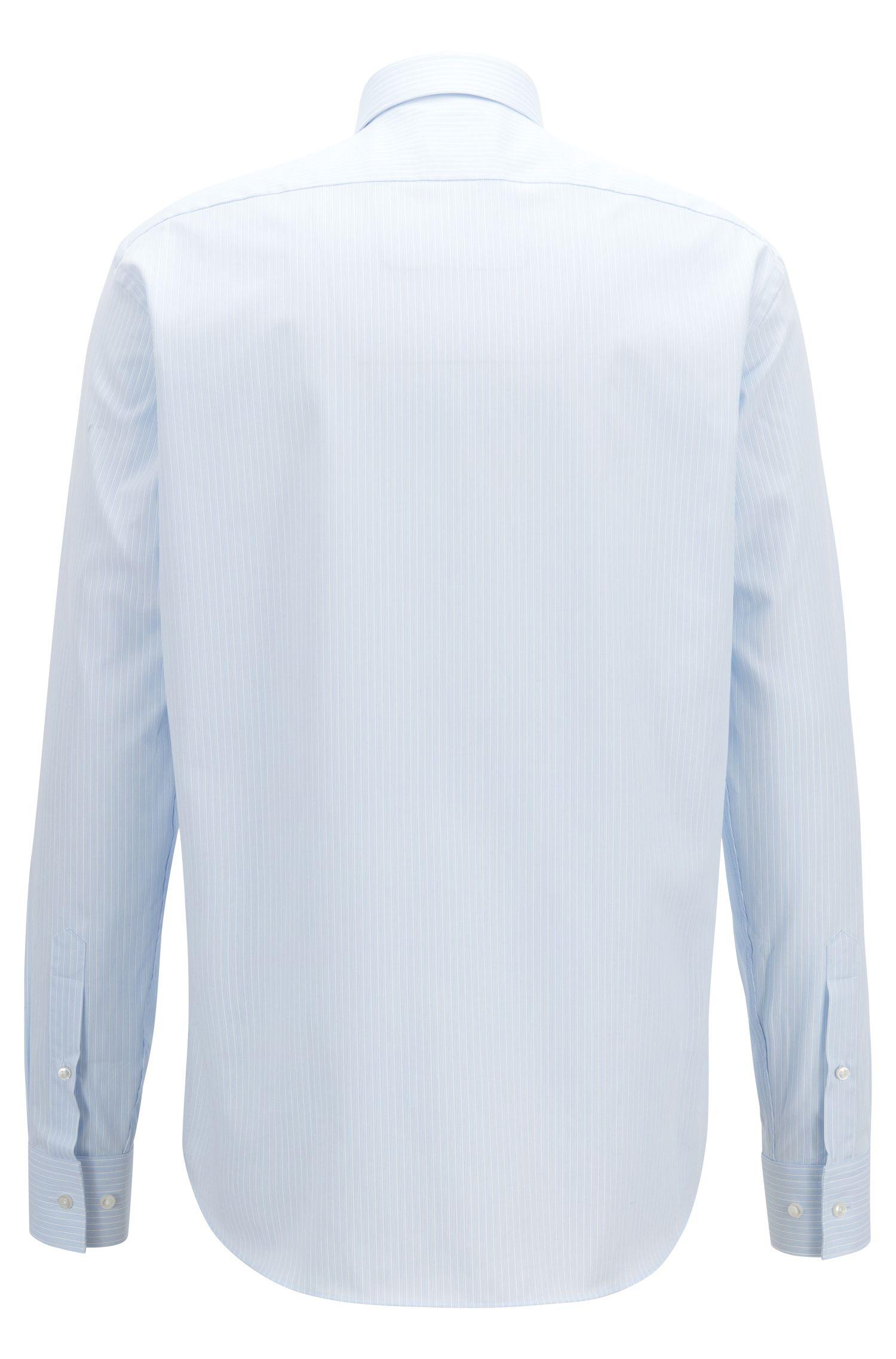 Chemise Regular Fit en coton, à fines rayures texturées, Bleu vif