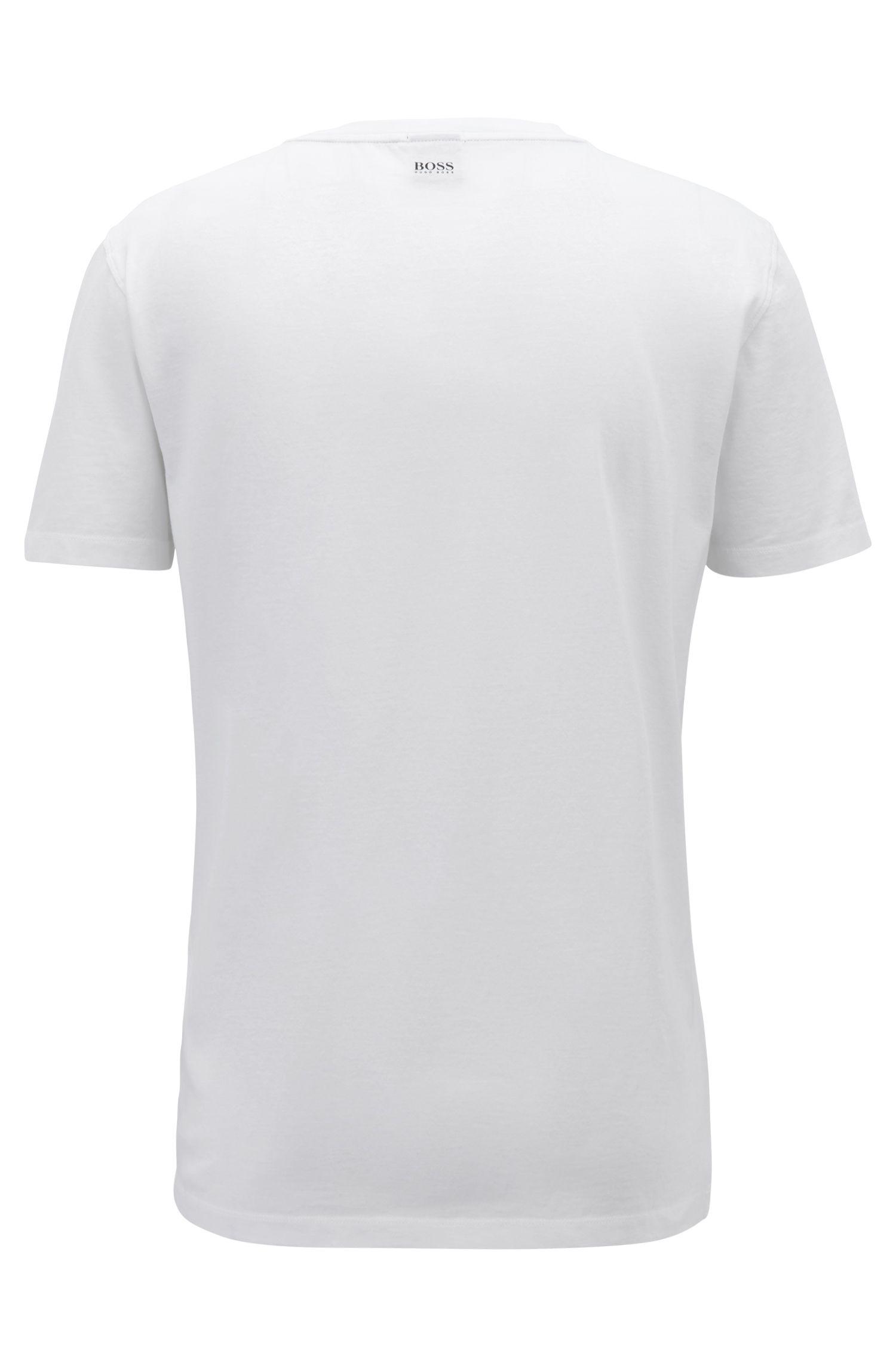 Digitally printed T-shirt in Pima cotton, White