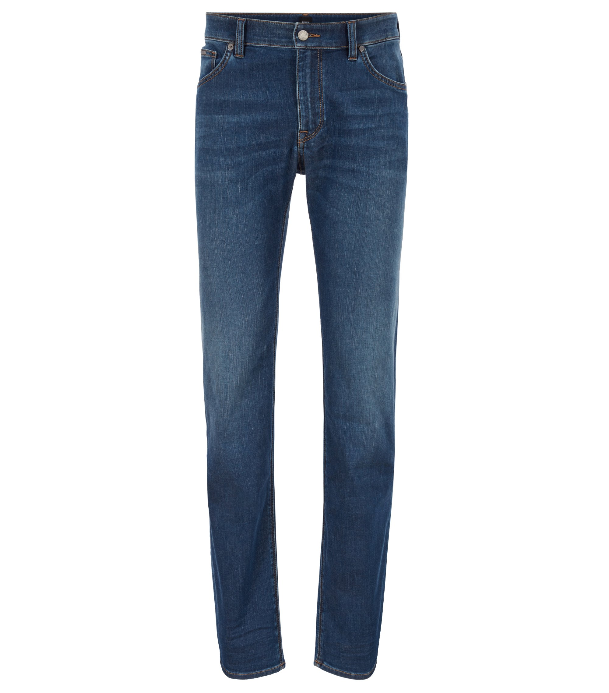 Regular-fit jeans van superzacht stretchdenim, Blauw