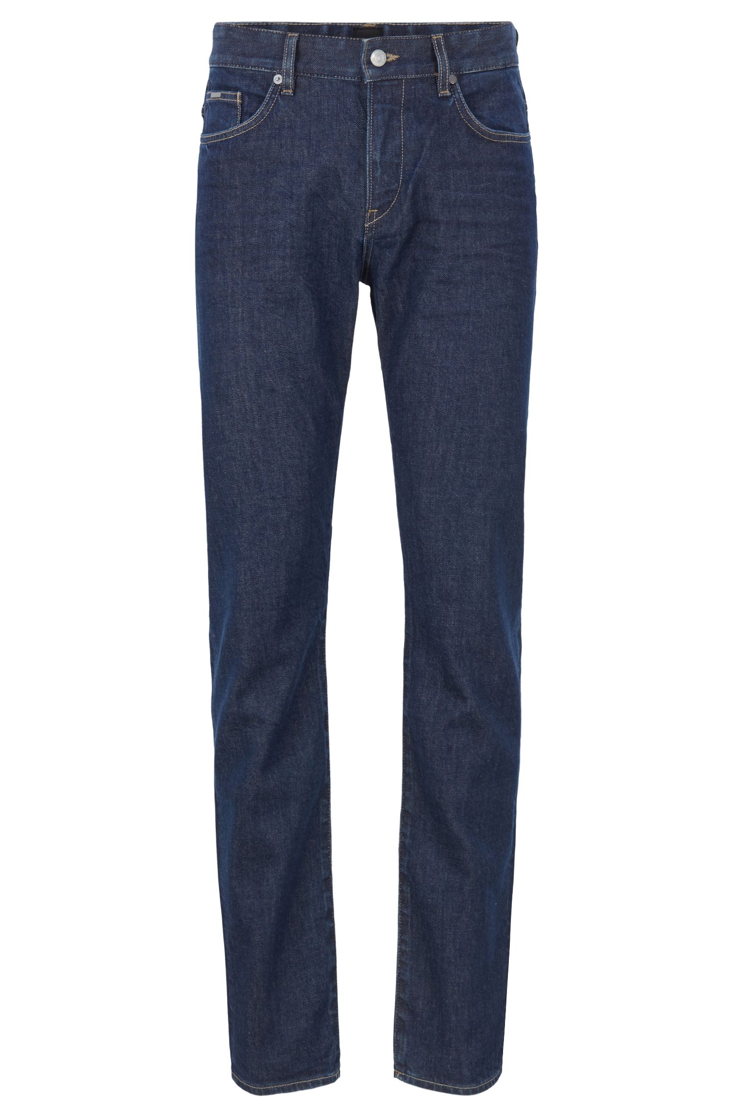 Slim-fit jeans in Italian stretch denim, Dark Blue