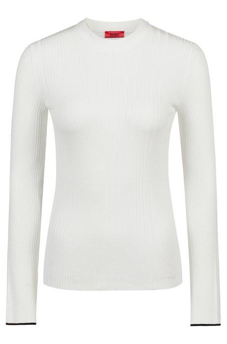Pullover aus Ripp-Strick, Natur
