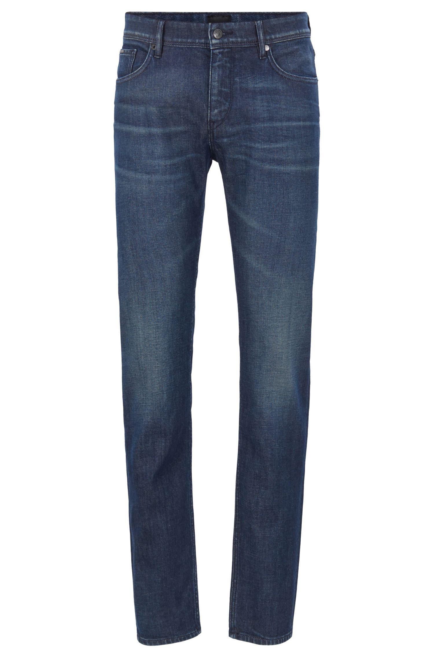 Jean taille basse Extra Slim Fit en denim italien, Bleu