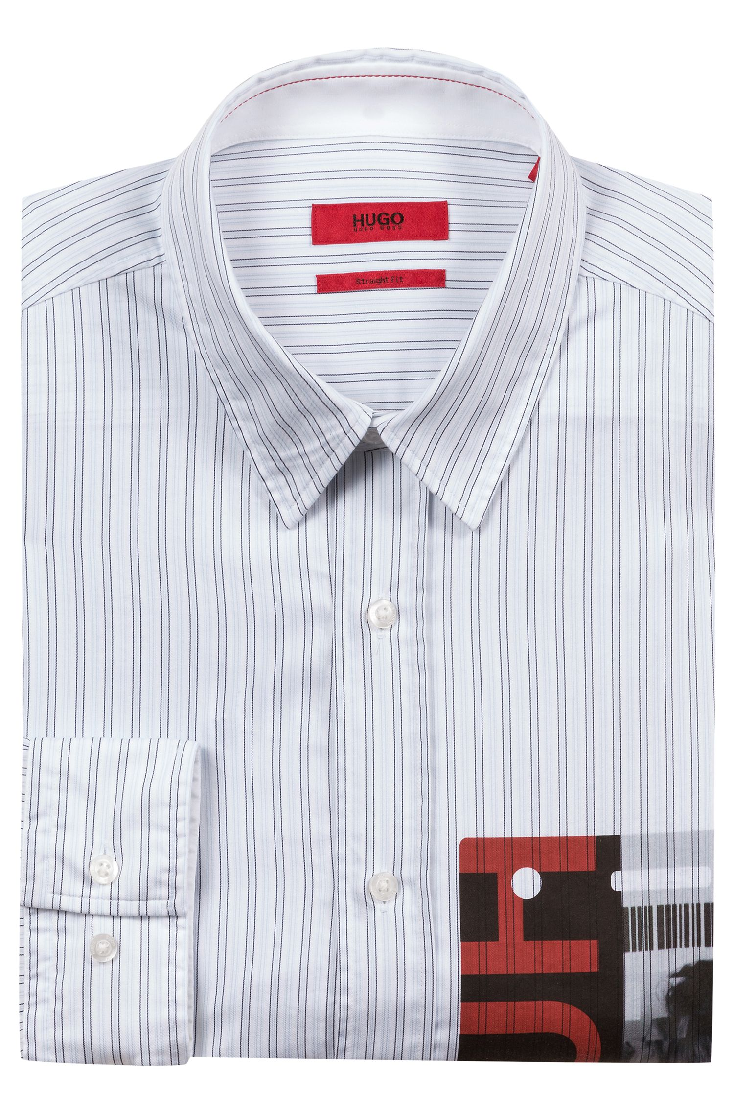 Relaxed-fit shirt with graphic print and QR code, Light Blue